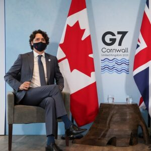 Prime Minister Justin Trudeau at the G7 Summit 2021